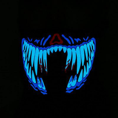 Outdoor Cycling LED Cold Light EL Voice Activation Mask