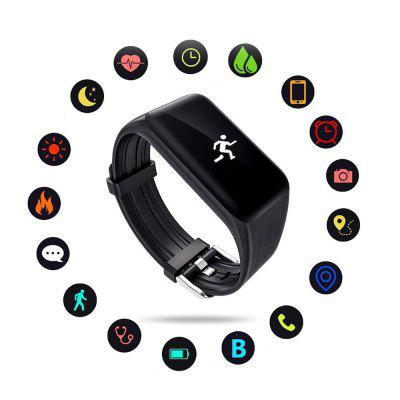 New Fitness Tracker K1 Smart Bracelet Real-time Heart Rate Monitor down to sec CSmart Watches<br>New Fitness Tracker K1 Smart Bracelet Real-time Heart Rate Monitor down to sec C<br><br>Alert type: Vibration<br>Available Color: Black<br>Band material: Silicone<br>Battery  Capacity: 105mAh<br>Bluetooth Version: Bluetooth 4.0<br>Case material: Resin<br>Charging Time: About 2hours<br>Compatability: Android 4.4 / iOS 8.0<br>Compatible OS: IOS, Android<br>Functions: Barometer, Incoming calls show, Measurement of heart rate, Pedometer, Alarm Clock<br>IP rating: IP68<br>Language: English,French,Portuguese,Russian,German,Italian,Dutch<br>Notification type: WhatsApp, Twitter, G-mail, Wechat<br>Operating mode: Touch Screen<br>Package Contents: 1 x Smart Bracelet ,1 x English And Chinese Manual ,1x Charger<br>Package size (L x W x H): 8.00 x 6.00 x 2.00 cm / 3.15 x 2.36 x 0.79 inches<br>Package weight: 0.0800 kg<br>People: Male table,Female table<br>Product size (L x W x H): 24.80 x 24.20 x 11.00 cm / 9.76 x 9.53 x 4.33 inches<br>Product weight: 0.0212 kg<br>Screen type: OLED<br>Shape of the dial: Rectangle<br>Waterproof: Yes
