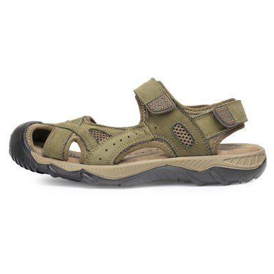 Plus Size Leather Casual Sandals Shoes for MenMens Sandals<br>Plus Size Leather Casual Sandals Shoes for Men<br><br>Contents: 1 x Pair of Shoes<br>Materials: Leather, Rubber<br>Outsole Material: Rubber<br>Package Size ( L x W x H ): 32.00 x 21.00 x 13.00 cm / 12.6 x 8.27 x 5.12 inches<br>Package weight: 0.9000 kg<br>Product weight: 0.7500 kg<br>Type: Sandals<br>Upper Material: Leather