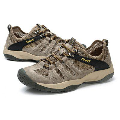 Casual Mesh Upper Climbing Shoes for MenMen's Sneakers<br>Casual Mesh Upper Climbing Shoes for Men<br><br>Closure Type: Lace-Up<br>Contents: 1 x Pair of Climbing Shoes, 1 x Contact Paper, 1 x Shoe Box<br>Function: Slip Resistant, Puncture Resistant<br>Materials: Leather, Mesh, Rubber<br>Occasion: Outdoor Clothing<br>Outsole Material: Rubber<br>Package Size ( L x W x H ): 33.00 x 22.00 x 11.00 cm / 12.99 x 8.66 x 4.33 inches<br>Package weight: 0.8500 kg<br>Product weight: 0.7000 kg<br>Seasons: Autumn,Spring,Summer,Winter<br>Style: Comfortable<br>Toe Shape: Round Toe<br>Type: Hiking Shoes<br>Upper Material: Mesh