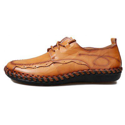 Plus Size British Style Lace-up Leisure Shoes for MenMen's Oxford<br>Plus Size British Style Lace-up Leisure Shoes for Men<br><br>Contents: 1 x Pair of Shoes<br>Lining Material: Leather<br>Materials: Leather, Rubber<br>Outsole Material: Rubber<br>Package Size ( L x W x H ): 32.00 x 21.00 x 13.00 cm / 12.6 x 8.27 x 5.12 inches<br>Package weight: 0.9200 kg<br>Product weight: 0.7800 kg<br>Type: Casual Shoes