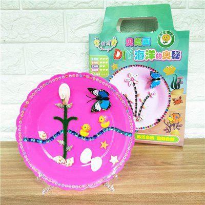Children Shell Picture DIY Kit Disk Stickers Educational Toys -  MULTI-D