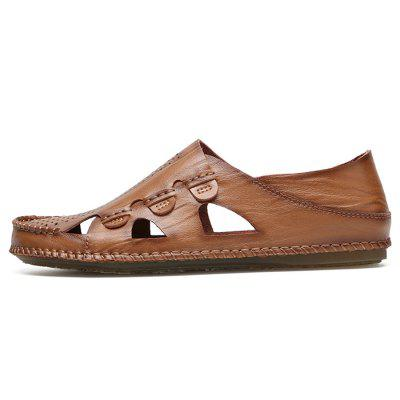Men Trendy Hollow-out Breathable Leather Casual ShoesFlats &amp; Loafers<br>Men Trendy Hollow-out Breathable Leather Casual Shoes<br><br>Closure Type: Slip-On<br>Contents: 1 x Pair of Shoes, 1 x Box<br>Function: Slip Resistant<br>Materials: Leather, Oxford Fabric<br>Occasion: Beach, Shopping, Holiday, Daily, Casual<br>Package Size ( L x W x H ): 32.00 x 21.00 x 13.00 cm / 12.6 x 8.27 x 5.12 inches<br>Package weight: 0.8000 kg<br>Product weight: 0.6500 kg<br>Seasons: Summer<br>Style: Fashion, Comfortable, Casual<br>Toe Shape: Round Toe<br>Type: Casual Leather Shoes<br>Upper Material: Leather