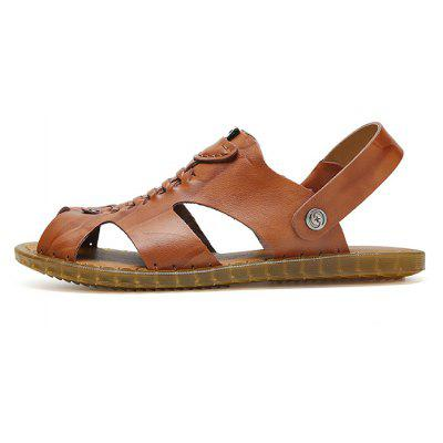 Men Leisure Dual-use Anti-slip Leather SandalsMens Sandals<br>Men Leisure Dual-use Anti-slip Leather Sandals<br><br>Contents: 1 x Pair of Shoes, 1 x Box<br>Function: Slip Resistant<br>Materials: Rubber, Leather<br>Occasion: Shopping, Holiday, Daily, Casual, Beach<br>Outsole Material: Rubber<br>Package Size ( L x W x H ): 32.00 x 21.00 x 13.00 cm / 12.6 x 8.27 x 5.12 inches<br>Package weight: 0.8300 kg<br>Product weight: 0.6800 kg<br>Seasons: Summer<br>Style: Leisure, Fashion, Comfortable<br>Type: Sandals<br>Upper Material: Leather