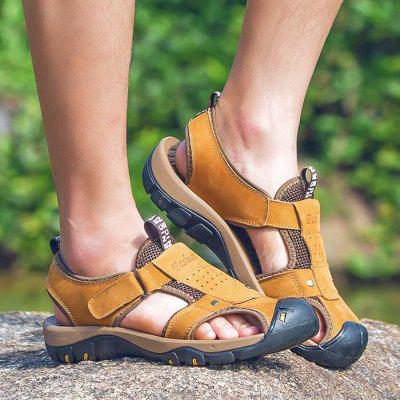 Male Durable Summer Anti-slip Leather SandalsMens Sandals<br>Male Durable Summer Anti-slip Leather Sandals<br><br>Contents: 1 x Pair of Shoes, 1 x Box<br>Decoration: Hollow Out<br>Function: Slip Resistant<br>Materials: Rubber, Leather<br>Occasion: Casual, Daily, Shopping<br>Package Size ( L x W x H ): 30.00 x 20.00 x 10.00 cm / 11.81 x 7.87 x 3.94 inches<br>Package weight: 0.7500 kg<br>Product weight: 0.6000 kg<br>Style: Leisure, Comfortable<br>Toe Shape: Round Toe<br>Type: Sandals