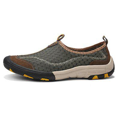 Breathable Mesh Anti-slip Casual Shoes for MenCasual Shoes<br>Breathable Mesh Anti-slip Casual Shoes for Men<br><br>Closure Type: Elastic band<br>Contents: 1 x Pair of Shoes, 1 x Box<br>Function: Slip Resistant<br>Materials: Mesh, Rubber<br>Occasion: Beach, Sports, Outdoor Clothing, Holiday, Daily, Casual, Running<br>Outsole Material: Rubber<br>Package Size ( L x W x H ): 30.00 x 20.00 x 10.00 cm / 11.81 x 7.87 x 3.94 inches<br>Package weight: 0.8000 kg<br>Product weight: 0.6500 kg<br>Seasons: Spring,Summer<br>Style: Casual<br>Toe Shape: Round Toe<br>Type: Casual Shoes<br>Upper Material: Mesh