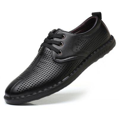 Men Trendy Breathable Anti-slip Dress ShoesMen's Oxford<br>Men Trendy Breathable Anti-slip Dress Shoes<br><br>Closure Type: Lace-Up<br>Contents: 1 x Pair of Shoes, 1 x Box<br>Function: Slip Resistant<br>Materials: Microfiber Leather, Rubber<br>Occasion: Casual, Shopping, Holiday, Formal, Daily<br>Outsole Material: Rubber<br>Package Size ( L x W x H ): 30.00 x 20.00 x 10.00 cm / 11.81 x 7.87 x 3.94 inches<br>Package weight: 0.8500 kg<br>Product weight: 0.7000 kg<br>Seasons: Autumn,Spring,Summer<br>Style: Fashion, Comfortable, Casual<br>Toe Shape: Round Toe<br>Type: Casual Shoes<br>Upper Material: Microfiber Leather
