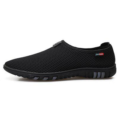 Men Outdoor Breathable Quick-drying Anti-slip Flat ShoesFlats &amp; Loafers<br>Men Outdoor Breathable Quick-drying Anti-slip Flat Shoes<br><br>Closure Type: Slip-On<br>Contents: 1 x Pair of Shoes, 1 x Box<br>Function: Slip Resistant<br>Materials: Rubber, Mesh Fabric<br>Occasion: Beach, Casual, Daily, Holiday<br>Outsole Material: Rubber<br>Package Size ( L x W x H ): 30.00 x 20.00 x 10.00 cm / 11.81 x 7.87 x 3.94 inches<br>Package weight: 0.6000 kg<br>Product weight: 0.5000 kg<br>Seasons: Spring,Summer<br>Style: Fashion, Comfortable, Casual<br>Type: Casual Shoes<br>Upper Material: Mesh Fabric