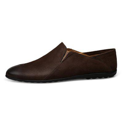 Men Trendy Slip-on British Style Leather Casual ShoesFlats &amp; Loafers<br>Men Trendy Slip-on British Style Leather Casual Shoes<br><br>Closure Type: Slip-On<br>Contents: 1 x Pair of Shoes, 1 x Box<br>Function: Slip Resistant<br>Materials: Leather, Rubber<br>Occasion: Casual, Shopping, Holiday, Formal, Daily<br>Outsole Material: Rubber<br>Package Size ( L x W x H ): 30.00 x 20.00 x 10.00 cm / 11.81 x 7.87 x 3.94 inches<br>Package weight: 0.8500 kg<br>Product weight: 0.7000 kg<br>Seasons: Autumn,Spring,Summer<br>Style: Fashion, Comfortable, Casual<br>Type: Flat Shoes<br>Upper Material: Leather