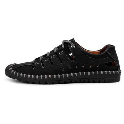 Men Trendy Outdoor Breathable Anti-slip SandalsMens Sandals<br>Men Trendy Outdoor Breathable Anti-slip Sandals<br><br>Closure Type: Lace-Up<br>Contents: 1 x Pair of Shoes, 1 x Box<br>Function: Slip Resistant<br>Materials: Rubber, Leather<br>Occasion: Daily, Holiday, Outdoor Clothing<br>Outsole Material: Rubber<br>Package Size ( L x W x H ): 33.00 x 22.00 x 11.00 cm / 12.99 x 8.66 x 4.33 inches<br>Package weight: 0.7500 kg<br>Product weight: 0.6000 kg<br>Seasons: Summer<br>Style: Fashion, Comfortable, Casual<br>Toe Shape: Round Toe<br>Type: Sandals<br>Upper Material: Leather