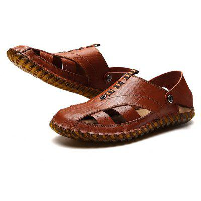 Men Trendy Outdoor Breathable Casual Sandal ShoesMens Sandals<br>Men Trendy Outdoor Breathable Casual Sandal Shoes<br><br>Contents: 1 x Pair of Shoes, 1 x Box<br>Materials: Genuine Leather, Rubber<br>Occasion: Outdoor Clothing, Holiday, Daily, Casual<br>Outsole Material: Rubber<br>Package Size ( L x W x H ): 32.00 x 21.00 x 13.00 cm / 12.6 x 8.27 x 5.12 inches<br>Package weight: 0.8200 kg<br>Product weight: 0.6800 kg<br>Seasons: Summer<br>Style: Fashion, Comfortable, Casual<br>Toe Shape: Round Toe<br>Type: Sandals<br>Upper Material: Genuine Leather