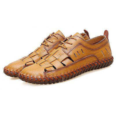 Men Trendy Outdoor Breathable Casual Laced ShoesMen's Oxford<br>Men Trendy Outdoor Breathable Casual Laced Shoes<br><br>Closure Type: Lace-Up<br>Contents: 1 x Pair of Shoes, 1 x Box<br>Materials: Leather, TPR<br>Occasion: Outdoor Clothing, Holiday, Daily, Casual<br>Outsole Material: Rubber<br>Package Size ( L x W x H ): 33.00 x 22.00 x 11.00 cm / 12.99 x 8.66 x 4.33 inches<br>Package weight: 0.7500 kg<br>Product weight: 0.6000 kg<br>Seasons: Autumn,Spring,Summer<br>Style: Fashion, Comfortable, Casual<br>Toe Shape: Round Toe<br>Type: Casual Shoes<br>Upper Material: Leather