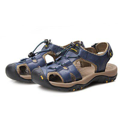 Men Trendy Outdoor Anti-slip Casual Sandal ShoesMens Sandals<br>Men Trendy Outdoor Anti-slip Casual Sandal Shoes<br><br>Contents: 1 x Pair of Shoes, 1 x Box<br>Function: Slip Resistant<br>Materials: Rubber, Leather<br>Occasion: Rainy Day, Holiday, Daily, Casual, Beach, Outdoor Clothing<br>Outsole Material: Rubber<br>Package Size ( L x W x H ): 33.00 x 22.00 x 11.00 cm / 12.99 x 8.66 x 4.33 inches<br>Package weight: 0.8500 kg<br>Product weight: 0.7000 kg<br>Seasons: Summer<br>Style: Leisure, Comfortable, Casual<br>Toe Shape: Open Toe<br>Type: Sandals<br>Upper Material: Leather