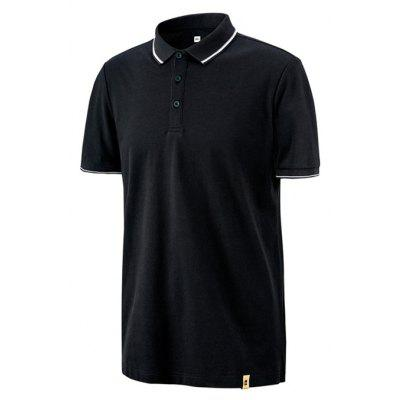 Xiaomi Breathable Short Sleeves T-shirt for MenMens Short Sleeve Tees<br>Xiaomi Breathable Short Sleeves T-shirt for Men<br><br>Brand: Xiaomi<br>Neckline: Turn-down Collar<br>Package Content: 1 x T-shirt<br>Package size: 10.00 x 8.00 x 2.00 cm / 3.94 x 3.15 x 0.79 inches<br>Package weight: 0.2500 kg<br>Pattern Type: Solid<br>Product weight: 0.2000 kg<br>Season: Summer<br>Sleeve Length: Short Sleeves<br>Style: Fashion