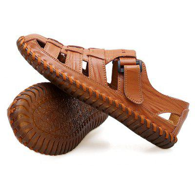 Men Leisure Hollow-out Handcrafted Leather SandalsMens Sandals<br>Men Leisure Hollow-out Handcrafted Leather Sandals<br><br>Closure Type: Hook / Loop<br>Contents: 1 x Pair of Shoes, 1 x Box<br>Decoration: Hollow Out<br>Function: Slip Resistant<br>Materials: Rubber, Leather<br>Occasion: Beach, Casual, Daily, Holiday, Shopping<br>Outsole Material: Rubber<br>Package Size ( L x W x H ): 33.00 x 22.00 x 11.00 cm / 12.99 x 8.66 x 4.33 inches<br>Package weight: 0.7500 kg<br>Product weight: 0.6000 kg<br>Seasons: Summer<br>Style: Fashion, Comfortable, Casual<br>Toe Shape: Round Toe<br>Type: Sandals<br>Upper Material: Leather
