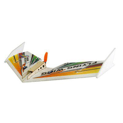 EPP Rainbow 580mm Wingspan Delta Wing RC AirplaneRC Airplanes<br>EPP Rainbow 580mm Wingspan Delta Wing RC Airplane<br><br>Compatible with Additional Gimbal: No<br>ESC Current: 10A<br>Length: 300mm<br>Motor Model / RPM: 1404 2900KV<br>Package Contents: 1 x Delta Wing Airplane, 1 x Propeller, 1 x Motor, 1 x ESC, 2 x Servo, 1 x Set of Accessories<br>Package size (L x W x H): 47.00 x 17.00 x 5.00 cm / 18.5 x 6.69 x 1.97 inches<br>Package weight: 0.6000 kg<br>Product size (L x W x H): 58.00 x 30.00 x 5.00 cm / 22.83 x 11.81 x 1.97 inches<br>Product weight: 0.5000 kg<br>Servo Type: 2.5g<br>Takeoff Weight: 110g<br>Wingspan: 580mm