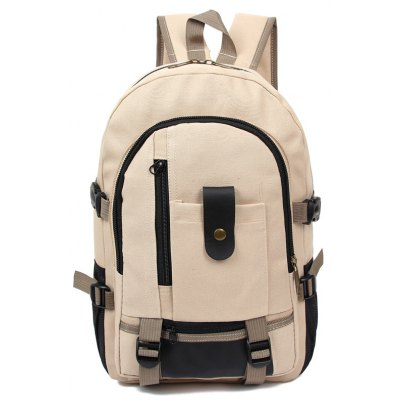 Men Trendy Outdoor Large Capacity Canvas BackpackBackpacks<br>Men Trendy Outdoor Large Capacity Canvas Backpack<br><br>Capacity: 11 - 20L<br>Closure Type: Buckle, Zip<br>Features: Wearable<br>For: Traveling, Shopping, Outdoor, Hiking, Daily Use, Cycling, Climbing<br>Gender: Men<br>Material: Canvas<br>Package Size(L x W x H): 45.50 x 36.50 x 4.00 cm / 17.91 x 14.37 x 1.57 inches<br>Package weight: 0.3700 kg<br>Packing List: 1 x Backpack<br>Product Size(L x W x H): 44.50 x 35.50 x 14.50 cm / 17.52 x 13.98 x 5.71 inches<br>Product weight: 0.3500 kg<br>Style: Casual, Fashion<br>Type: Backpacks