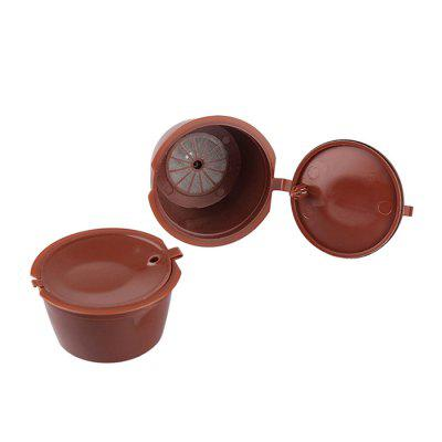 Reusable Coffee Capsule 2PCSCoffee &amp; Tea Tools<br>Reusable Coffee Capsule 2PCS<br><br>Material: PC<br>Package Contents: 2 x Coffee Capsule<br>Package size (L x W x H): 10.00 x 6.00 x 4.00 cm / 3.94 x 2.36 x 1.57 inches<br>Package weight: 0.0200 kg<br>Product size (L x W x H): 5.20 x 5.20 x 3.50 cm / 2.05 x 2.05 x 1.38 inches<br>Product weight: 0.0160 kg