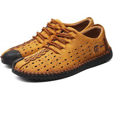 Men Trendy Large Size Breathable Anti-slip SandalsMens Sandals<br>Men Trendy Large Size Breathable Anti-slip Sandals<br><br>Closure Type: Lace-Up<br>Contents: 1 x Pair of Shoes<br>Materials: Microfiber, Rubber<br>Outsole Material: Rubber<br>Package Size ( L x W x H ): 32.00 x 21.00 x 13.00 cm / 12.6 x 8.27 x 5.12 inches<br>Package weight: 0.7100 kg<br>Product Size  ( L x W x H ): 28.00 x 16.00 x 8.00 cm / 11.02 x 6.3 x 3.15 inches<br>Product weight: 0.5600 kg<br>Seasons: Autumn,Spring,Summer<br>Style: Comfortable, Fashion, Casual<br>Toe Shape: Round Toe<br>Type: Casual Shoes<br>Upper Material: Microfiber Leather