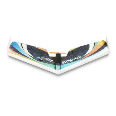 Beginner Level Rainbow 800mm Wingspan RC AirplaneRC Airplanes<br>Beginner Level Rainbow 800mm Wingspan RC Airplane<br><br>Compatible with Additional Gimbal: No<br>ESC Current: 10A<br>Function: Forward/backward, Turn left/right, Up/down<br>Length: 365mm<br>Material: EPP<br>Motor Model / RPM: 1404 2900KV<br>Package Contents: 1 x Delta Wing Airplane, 1 x Propeller, 1 x Motor, 1 x ESC, 2 x Servo, 1 x Transmitter, 1 x Receiver<br>Package size (L x W x H): 51.00 x 19.00 x 5.00 cm / 20.08 x 7.48 x 1.97 inches<br>Package weight: 1.6000 kg<br>Product size (L x W x H): 80.00 x 36.50 x 5.00 cm / 31.5 x 14.37 x 1.97 inches<br>Product weight: 1.5000 kg<br>Servo Type: 5g<br>Takeoff Weight: 160g<br>Wingspan: 800mm