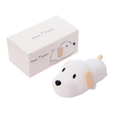 L - 05 Creative Puppy Silicone Rechargeable Sleeping Night LampNight Lights<br>L - 05 Creative Puppy Silicone Rechargeable Sleeping Night Lamp<br><br>Battery Quantity: 1<br>Color Temperature or Wavelength: 3000k / 6500k<br>Connector Type: Battery, USB 2.0<br>Features: Color-changing<br>Initial Lumens ( lm ): 100lm<br>Light Source Color: White<br>Light Type: LED Night Light<br>Package Contents: 1 x Sleeping Night Light, 1 x USB Cable, 1 x English Manual<br>Package size (L x W x H): 17.00 x 10.00 x 8.80 cm / 6.69 x 3.94 x 3.46 inches<br>Package weight: 0.2150 kg<br>Power Source: DC 5V<br>Product size (L x W x H): 16.00 x 9.00 x 7.60 cm / 6.3 x 3.54 x 2.99 inches<br>Product weight: 0.1740 kg<br>Quantity: 1<br>Style: Cartoon<br>Wattage: 2W