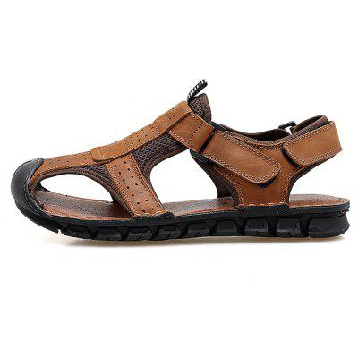 Men Fashion Anti-slip Hollow-out Leather SandalsMens Sandals<br>Men Fashion Anti-slip Hollow-out Leather Sandals<br><br>Closure Type: Hook / Loop<br>Contents: 1 x Pair of Shoes, 1 x Box<br>Decoration: Hollow Out<br>Function: Slip Resistant<br>Materials: Leather, Rubber<br>Occasion: Casual, Daily, Holiday, Shopping, Beach<br>Outsole Material: Rubber<br>Package Size ( L x W x H ): 30.00 x 20.00 x 10.00 cm / 11.81 x 7.87 x 3.94 inches<br>Package weight: 0.8000 kg<br>Product weight: 0.6500 kg<br>Seasons: Summer<br>Style: Fashion, Comfortable, Casual<br>Type: Sandals<br>Upper Material: Leather