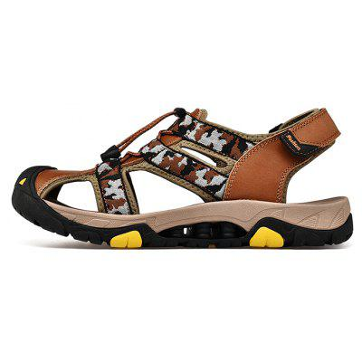 Men Fashion Hollow-out Camouflage Leather SandalsMens Sandals<br>Men Fashion Hollow-out Camouflage Leather Sandals<br><br>Closure Type: Hook / Loop, Elastic band<br>Contents: 1 x Pair of Shoes, 1 x Box<br>Decoration: Hollow Out<br>Function: Slip Resistant<br>Materials: Rubber, Leather<br>Occasion: Daily, Holiday, Shopping, Casual, Beach<br>Outsole Material: Rubber<br>Package Size ( L x W x H ): 30.00 x 20.00 x 10.00 cm / 11.81 x 7.87 x 3.94 inches<br>Package weight: 0.7500 kg<br>Product weight: 0.6000 kg<br>Seasons: Summer<br>Style: Fashion, Comfortable, Casual<br>Type: Sandals<br>Upper Material: Leather