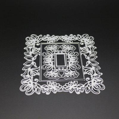 Pretty Card Cover Pattern Embossing Cutting Dies - SILVER