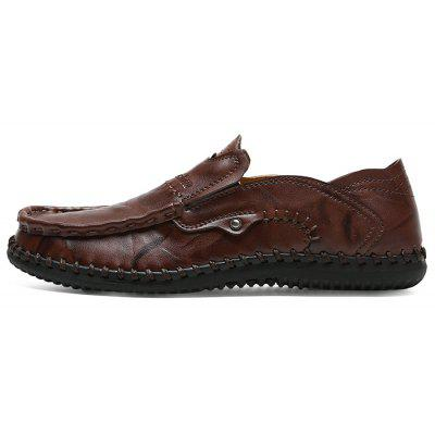 Male Handcrafted Leather Casual Loafer ShoesCasual Shoes<br>Male Handcrafted Leather Casual Loafer Shoes<br><br>Closure Type: Slip-On<br>Contents: 1 x Pair of Shoes, 1 x Box<br>Function: Slip Resistant<br>Materials: Leather, Rubber<br>Outsole Material: Rubber<br>Package Size ( L x W x H ): 31.00 x 21.00 x 12.00 cm / 12.2 x 8.27 x 4.72 inches<br>Package weight: 0.8000 kg<br>Product weight: 0.7000 kg<br>Seasons: Autumn,Spring<br>Type: Casual Leather Shoes<br>Upper Material: Leather
