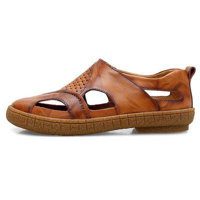 Casual Leather Sandals for MenMens Sandals<br>Casual Leather Sandals for Men<br><br>Closure Type: Slip-On<br>Contents: 1 x Pair of Shoes, 1 x Box<br>Function: Slip Resistant<br>Materials: TPR, Leather<br>Occasion: Beach, Casual, Daily<br>Outsole Material: TPR<br>Package Size ( L x W x H ): 32.00 x 21.00 x 13.00 cm / 12.6 x 8.27 x 5.12 inches<br>Package weight: 0.8000 kg<br>Product weight: 0.6500 kg<br>Seasons: Summer<br>Type: Sandals<br>Upper Material: Leather