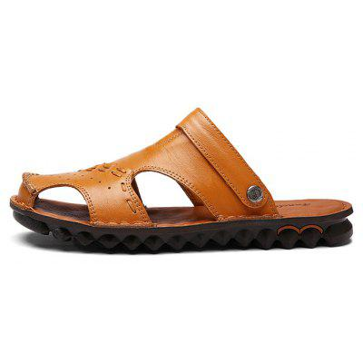Fashion Summer Dual-use Hollow-out Leather SandalsMens Sandals<br>Fashion Summer Dual-use Hollow-out Leather Sandals<br><br>Contents: 1 x Pair of Shoes, 1 x Box<br>Function: Slip Resistant<br>Materials: Rubber, Leather<br>Occasion: Shopping, Holiday, Daily, Casual, Beach<br>Outsole Material: Rubber<br>Package Size ( L x W x H ): 30.00 x 20.00 x 10.00 cm / 11.81 x 7.87 x 3.94 inches<br>Package weight: 0.7500 kg<br>Product weight: 0.6000 kg<br>Seasons: Summer<br>Style: Fashion, Comfortable, Casual<br>Type: Sandals<br>Upper Material: Leather