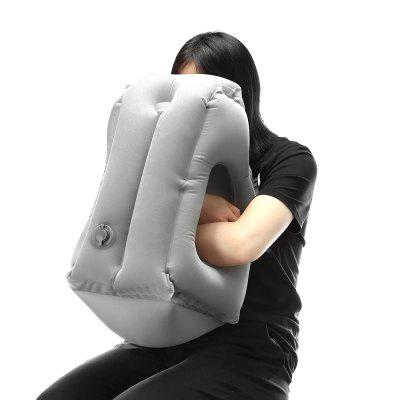 Inflatable Frontal Travel Pillow - GRAY
