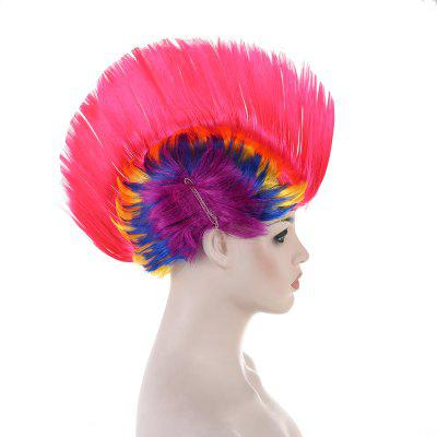 Rainbow Mohawk WigCosplay Wigs<br>Rainbow Mohawk Wig<br><br>Material: Synthetic Fibre<br>Package Contents: 1 x Wig<br>Package Size ( L x W x H ): 10.00 x 10.00 x 8.00 cm / 3.94 x 3.94 x 3.15 inches<br>Package Weights: 0.140kg<br>Product Size  ( L x W x H ): 7.87 x 7.87 x 5.91 cm / 3.1 x 3.1 x 2.33 inches<br>Stretched Length: 10inches<br>Type: synthetic hair extension<br>Wig Color: Multi-color<br>Wig Length: Short<br>Wig Style: Straight