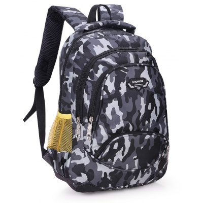 Camouflage Outdoor Backpack for MenBackpacks<br>Camouflage Outdoor Backpack for Men<br><br>For: Camping, Climbing, Cycling, Hiking, Other, Traveling<br>Material: Nylon<br>Package Contents: 1 x Backpack<br>Package size (L x W x H): 37.00 x 5.00 x 41.00 cm / 14.57 x 1.97 x 16.14 inches<br>Package weight: 0.5100 kg<br>Product size (L x W x H): 36.00 x 12.00 x 40.00 cm / 14.17 x 4.72 x 15.75 inches<br>Product weight: 0.5000 kg<br>Strap Length: 55 - 90cm<br>Type: Backpack