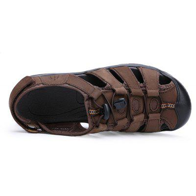 Men Fashion Summer Hollow-out Leather SandalsMens Sandals<br>Men Fashion Summer Hollow-out Leather Sandals<br><br>Closure Type: Hook / Loop, Elastic band<br>Contents: 1 x Pair of Shoes, 1 x Box<br>Function: Slip Resistant<br>Materials: Leather, Rubber<br>Occasion: Casual, Daily, Holiday, Shopping, Beach<br>Outsole Material: Rubber<br>Package Size ( L x W x H ): 31.00 x 21.00 x 12.00 cm / 12.2 x 8.27 x 4.72 inches<br>Package weight: 0.7500 kg<br>Product weight: 0.6500 kg<br>Seasons: Summer<br>Style: Fashion, Comfortable, Casual<br>Type: Sandals<br>Upper Material: Leather