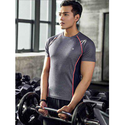 Xiaomi Stylish Splicing Quick-drying Sports Training T-shirtweight lifting clothes<br>Xiaomi Stylish Splicing Quick-drying Sports Training T-shirt<br><br>Brand: Xiaomi<br>Features: Breathable, High elasticity, Quick Dry<br>Gender: Men<br>Package Content: 1 x T-shirt<br>Package size: 20.00 x 15.00 x 1.00 cm / 7.87 x 5.91 x 0.39 inches<br>Package weight: 0.2000 kg<br>Product weight: 0.1800 kg<br>Types: Short Sleeves