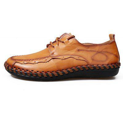 Men Leisure Anti-slip Handcrafted Leather Casual ShoesMen's Oxford<br>Men Leisure Anti-slip Handcrafted Leather Casual Shoes<br><br>Closure Type: Lace-Up<br>Contents: 1 x Pair of Shoes, 1 x Box<br>Function: Slip Resistant<br>Materials: Rubber, Leather<br>Occasion: Casual, Daily, Holiday, Shopping<br>Outsole Material: Rubber<br>Package Size ( L x W x H ): 31.00 x 21.00 x 12.00 cm / 12.2 x 8.27 x 4.72 inches<br>Package weight: 0.8500 kg<br>Product weight: 0.7500 kg<br>Seasons: Autumn,Spring,Summer<br>Style: Leisure, Fashion, Comfortable<br>Toe Shape: Round Toe<br>Type: Casual Leather Shoes<br>Upper Material: Leather