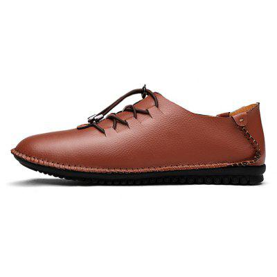 Leisure Soft Anti-slip Handcrafted Leather Casual ShoesMen's Oxford<br>Leisure Soft Anti-slip Handcrafted Leather Casual Shoes<br><br>Closure Type: Lace-Up<br>Contents: 1 x Pair of Shoes, 1 x Box<br>Function: Slip Resistant<br>Materials: Leather, Rubber<br>Occasion: Casual, Shopping, Office, Holiday, Formal, Daily<br>Outsole Material: Rubber<br>Package Size ( L x W x H ): 31.00 x 21.00 x 12.00 cm / 12.2 x 8.27 x 4.72 inches<br>Package weight: 0.8800 kg<br>Product weight: 0.7800 kg<br>Seasons: Autumn,Spring,Summer<br>Style: Fashion, Comfortable, Casual<br>Toe Shape: Round Toe<br>Type: Casual Leather Shoes<br>Upper Material: Leather
