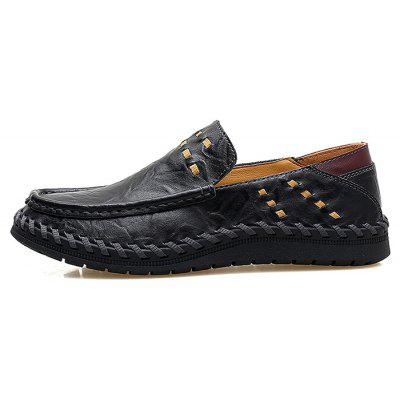 Fashion Plus Size Flat Shoes for MenMen's Oxford<br>Fashion Plus Size Flat Shoes for Men<br><br>Closure Type: Slip-On<br>Contents: 1 x Pair of Shoes, 1 x Box<br>Function: Slip Resistant<br>Materials: Leather, Rubber<br>Outsole Material: Rubber<br>Package Size ( L x W x H ): 31.00 x 21.00 x 12.00 cm / 12.2 x 8.27 x 4.72 inches<br>Package weight: 0.8500 kg<br>Product weight: 0.7500 kg<br>Seasons: Autumn,Spring<br>Toe Shape: Round Toe<br>Type: Casual Leather Shoes<br>Upper Material: Leather
