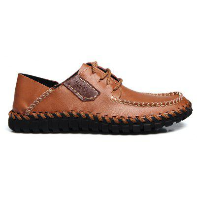 Male Leisure Lace-up Leather ShoesMen's Oxford<br>Male Leisure Lace-up Leather Shoes<br><br>Closure Type: Lace-Up<br>Contents: 1 x Pair of Shoes, 1 x Box<br>Function: Slip Resistant<br>Materials: Leather, Rubber<br>Outsole Material: Rubber<br>Package Size ( L x W x H ): 31.00 x 21.00 x 12.00 cm / 12.2 x 8.27 x 4.72 inches<br>Package weight: 0.8000 kg<br>Product weight: 0.7000 kg<br>Seasons: Autumn,Spring<br>Style: Leisure, Casual<br>Type: Casual Leather Shoes<br>Upper Material: Leather