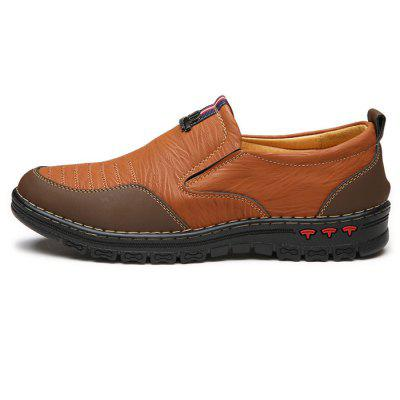 Men Trendy Outdoor Anti-slip Leather Casual ShoesCasual Shoes<br>Men Trendy Outdoor Anti-slip Leather Casual Shoes<br><br>Closure Type: Slip-On<br>Contents: 1 x Pair of Shoes, 1 x Box<br>Function: Slip Resistant<br>Materials: Leather, Rubber<br>Occasion: Casual, Shopping, Sports, Riding, Outdoor Clothing, Holiday, Daily<br>Outsole Material: Rubber<br>Package Size ( L x W x H ): 31.00 x 21.00 x 12.00 cm / 12.2 x 8.27 x 4.72 inches<br>Package weight: 0.8000 kg<br>Product weight: 0.7000 kg<br>Seasons: Autumn,Spring,Summer<br>Style: Fashion, Comfortable, Casual<br>Toe Shape: Round Toe<br>Type: Casual Leather Shoes<br>Upper Material: Leather