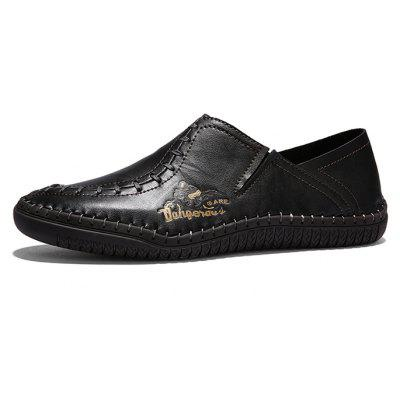 Trendy Anti-slip Handcrafted Leather Casual ShoesMen's Oxford<br>Trendy Anti-slip Handcrafted Leather Casual Shoes<br><br>Closure Type: Slip-On<br>Contents: 1 x Pair of Shoes, 1 x Box<br>Function: Slip Resistant<br>Materials: Leather, Rubber<br>Occasion: Casual, Shopping, Party, Office, Holiday, Daily<br>Outsole Material: Rubber<br>Package Size ( L x W x H ): 31.00 x 21.00 x 12.00 cm / 12.2 x 8.27 x 4.72 inches<br>Package weight: 0.8500 kg<br>Product weight: 0.7500 kg<br>Seasons: Autumn,Spring,Summer<br>Style: Fashion, Comfortable, Casual<br>Toe Shape: Round Toe<br>Type: Casual Leather Shoes<br>Upper Material: Leather