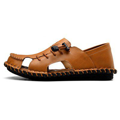 Men Stylish Hollow-out Anti-slip Leather SandalsMens Sandals<br>Men Stylish Hollow-out Anti-slip Leather Sandals<br><br>Contents: 1 x Pair of Shoes, 1 x Box<br>Decoration: Hollow Out<br>Function: Slip Resistant<br>Materials: Rubber, Leather<br>Occasion: Shopping, Holiday, Daily, Casual, Beach<br>Outsole Material: Rubber<br>Package Size ( L x W x H ): 31.00 x 21.00 x 12.00 cm / 12.2 x 8.27 x 4.72 inches<br>Package weight: 0.7800 kg<br>Product weight: 0.6800 kg<br>Seasons: Summer<br>Style: Formal, Fashion, Comfortable<br>Toe Shape: Round Toe<br>Type: Sandals<br>Upper Material: Leather
