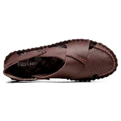 Men Leisure Hollow-out Anti-slip Leather SandalsMens Sandals<br>Men Leisure Hollow-out Anti-slip Leather Sandals<br><br>Closure Type: Slip-On<br>Contents: 1 x Pair of Shoes, 1 x Box<br>Decoration: Hollow Out<br>Function: Slip Resistant<br>Materials: Rubber, Leather<br>Occasion: Beach, Casual, Daily, Holiday, Shopping<br>Outsole Material: Rubber<br>Package Size ( L x W x H ): 31.00 x 21.00 x 12.00 cm / 12.2 x 8.27 x 4.72 inches<br>Package weight: 0.7800 kg<br>Product weight: 0.6800 kg<br>Seasons: Summer<br>Style: Fashion, Comfortable, Casual<br>Toe Shape: Round Toe<br>Type: Sandals<br>Upper Material: Leather