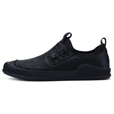 Men Leisure British Style Anti-slip Casual ShoesCasual Shoes<br>Men Leisure British Style Anti-slip Casual Shoes<br><br>Closure Type: Slip-On<br>Contents: 1 x Pair of Shoes, 1 x Box<br>Function: Slip Resistant<br>Materials: Rubber, Microfiber Leather<br>Occasion: Casual, Daily, Holiday, Shopping<br>Outsole Material: Rubber<br>Package Size ( L x W x H ): 31.00 x 21.00 x 12.00 cm / 12.2 x 8.27 x 4.72 inches<br>Package weight: 0.8500 kg<br>Product weight: 0.7500 kg<br>Seasons: Autumn,Spring,Summer<br>Style: Leisure, Fashion, Comfortable<br>Toe Shape: Round Toe<br>Type: Casual Shoes<br>Upper Material: Microfiber Leather