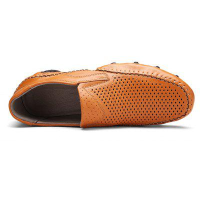 Men Trendy Breathable Leather Casual ShoesCasual Shoes<br>Men Trendy Breathable Leather Casual Shoes<br><br>Closure Type: Slip-On<br>Contents: 1 x Pair of Shoes, 1 x Box<br>Function: Slip Resistant<br>Materials: Leather, Rubber<br>Occasion: Casual, Shopping, Office, Holiday, Daily<br>Outsole Material: Rubber<br>Package Size ( L x W x H ): 32.00 x 21.00 x 13.00 cm / 12.6 x 8.27 x 5.12 inches<br>Package weight: 0.9100 kg<br>Product weight: 0.7600 kg<br>Seasons: Autumn,Spring,Summer<br>Style: Formal, Fashion, Comfortable<br>Toe Shape: Round Toe<br>Type: Casual Leather Shoes<br>Upper Material: Leather