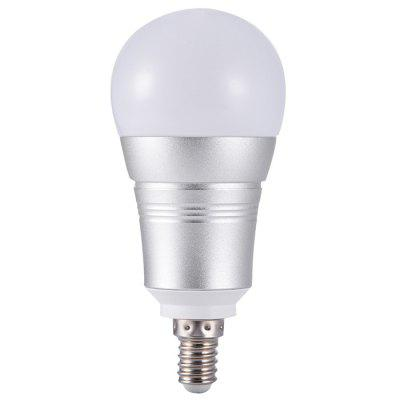 Wi-Fi Remote Control Smart BulbSmart Lighting<br>Wi-Fi Remote Control Smart Bulb<br><br>Available Light Color: Blue,Cool White,Green,Red<br>Color Temperature or Wavelength: Cool white: 6000 - 6500k, red: 620 - 625nm, blue: 460 - 465nm, green: 520 - 525nm<br>Features: APP Control, Easy to use, Energy Saving<br>Function: Home Lighting<br>Output Power: 7W<br>Package Contents: 1 x Smart Bulb, 1 x English Manual, 1 x Package Box<br>Package size (L x W x H): 7.00 x 7.00 x 12.00 cm / 2.76 x 2.76 x 4.72 inches<br>Package weight: 0.0930 kg<br>Product size (L x W x H): 2.00 x 6.00 x 11.00 cm / 0.79 x 2.36 x 4.33 inches<br>Product weight: 0.0730 kg<br>Sheathing Material: Aluminum, PC<br>Voltage (V): AC 85-265