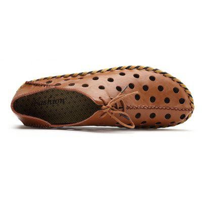 Male Chic Lace-up Hollow-out Leather SandalsMens Sandals<br>Male Chic Lace-up Hollow-out Leather Sandals<br><br>Closure Type: Lace-Up<br>Contents: 1 x Pair of Shoes, 1 x Box<br>Decoration: Hollow Out<br>Function: Slip Resistant<br>Materials: Rubber, Leather<br>Outsole Material: Rubber<br>Package Size ( L x W x H ): 32.00 x 21.00 x 13.00 cm / 12.6 x 8.27 x 5.12 inches<br>Package weight: 0.8000 kg<br>Product weight: 0.6500 kg<br>Seasons: Summer<br>Style: Casual<br>Type: Casual Leather Shoes<br>Upper Material: Leather
