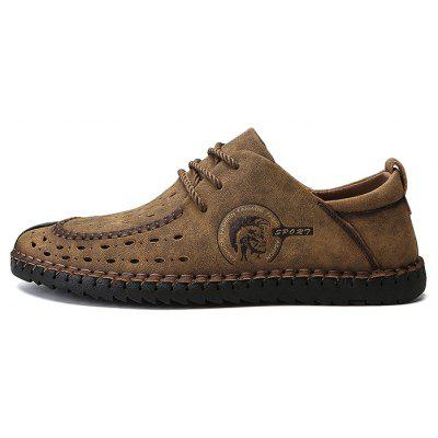 Men Trendy British Style Breathable Casual ShoesMen's Oxford<br>Men Trendy British Style Breathable Casual Shoes<br><br>Closure Type: Lace-Up<br>Contents: 1 x Pair of Shoes, 1 x Box<br>Function: Slip Resistant<br>Materials: Rubber, Microfiber Leather<br>Occasion: Casual, Daily, Holiday, Shopping<br>Outsole Material: Rubber<br>Package Size ( L x W x H ): 32.00 x 21.00 x 13.00 cm / 12.6 x 8.27 x 5.12 inches<br>Package weight: 0.8200 kg<br>Product weight: 0.6800 kg<br>Seasons: Autumn,Spring,Summer<br>Style: Fashion, Comfortable, Casual<br>Toe Shape: Round Toe<br>Type: Casual Shoes<br>Upper Material: Microfiber Leather