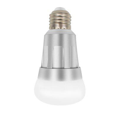 WiFi Voice Control Dimming Intelligent LED BulbSmart Lighting<br>WiFi Voice Control Dimming Intelligent LED Bulb<br><br>Available Light Color: Blue,Cool White,Green,Red<br>Color Temperature or Wavelength: Cool white: 6000 - 6500k, red: 620 - 625nm, blue: 460 - 465nm, green: 520 - 525nm<br>Features: APP Control, WiFi<br>Function: Home Lighting<br>Holder: E27<br>Output Power: 7W<br>Package Contents: 1 x Smart Bulb, 1 x English Manual, 1 x Package Box<br>Package size (L x W x H): 7.00 x 7.00 x 12.00 cm / 2.76 x 2.76 x 4.72 inches<br>Package weight: 0.1200 kg<br>Product size (L x W x H): 2.00 x 6.00 x 11.00 cm / 0.79 x 2.36 x 4.33 inches<br>Product weight: 0.1000 kg<br>Sheathing Material: Aluminum, PC<br>Voltage (V): AC 85-265